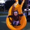 What's cuter than a baby on a slide?