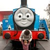 Life-sized Thomas the Tank Engine confuses toddler