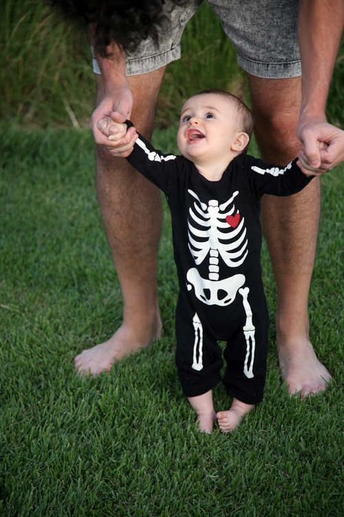 Old Navy skeleton suit