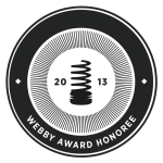 The Webby Awards | Personal Blog or Website -Honoree | 2013