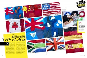 "Grazia (Australia) | ""Between the flags,"" Ten top stories this week, pages 28-29 