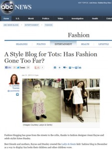 ABC News | A Style Blog for Tots? | 31 January 2013