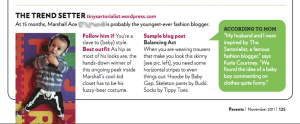 "Parents Magazine | Baby Bloggers, ""The Trendsetter""(pg 125) 