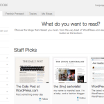 wordpress.com | Recommended Blogs | Staff Picks