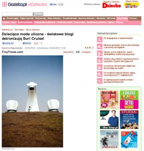 eDziecko.pl | Dziecięca moda uliczna – światowe blogi detronizują Suri Cruise! | 8/6/2012