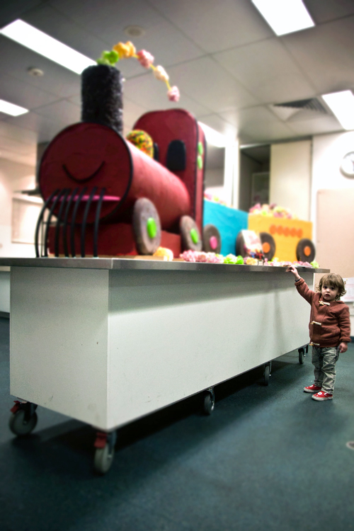Giant Train Cake At Mums Work