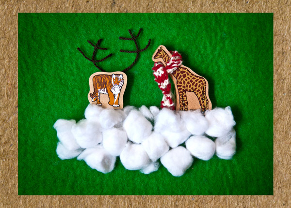 Announcing the tiny ten win one of two packs of for Cute creative christmas cards