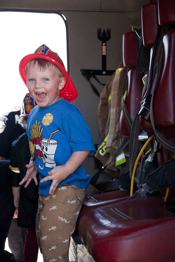 Fire hall theme birthday party