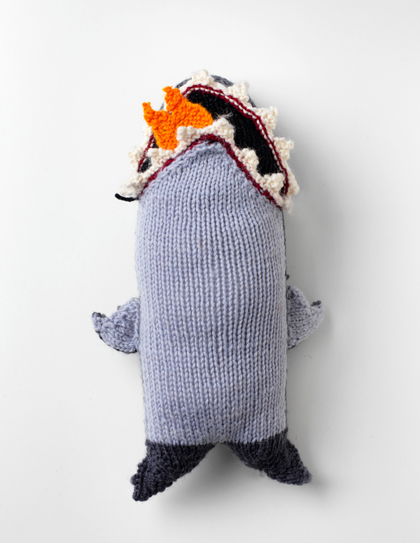Knitted toy shark