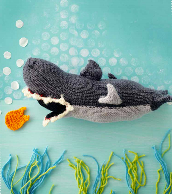 Knitted-toy-shark