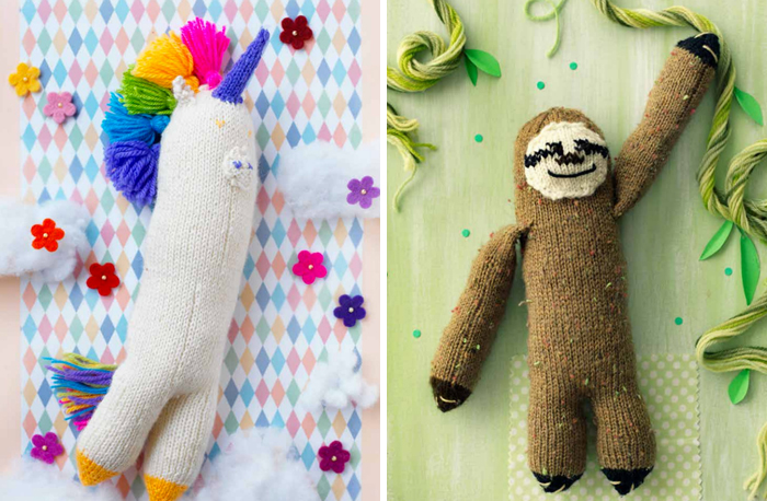 knitted-sloth-pattern-knitted-unicorn-pattern