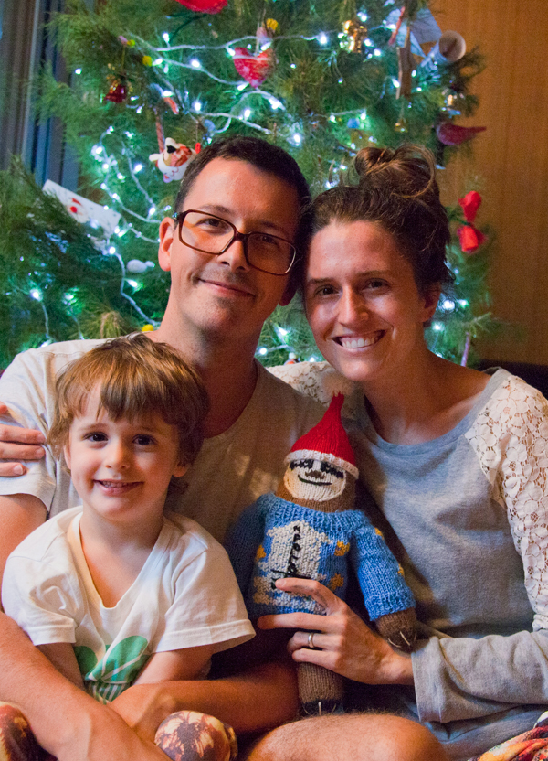 family christmas with sloth