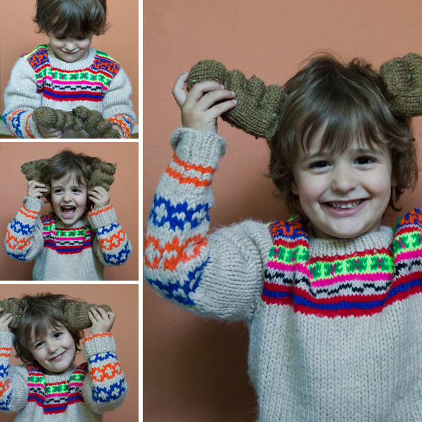 Knitted antlers