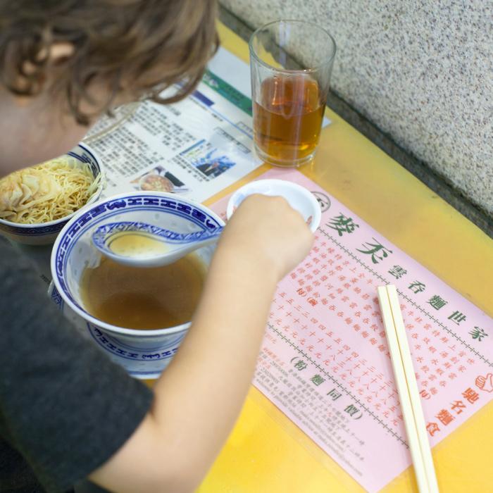 Maks Noodle Hong Kong Kids eat